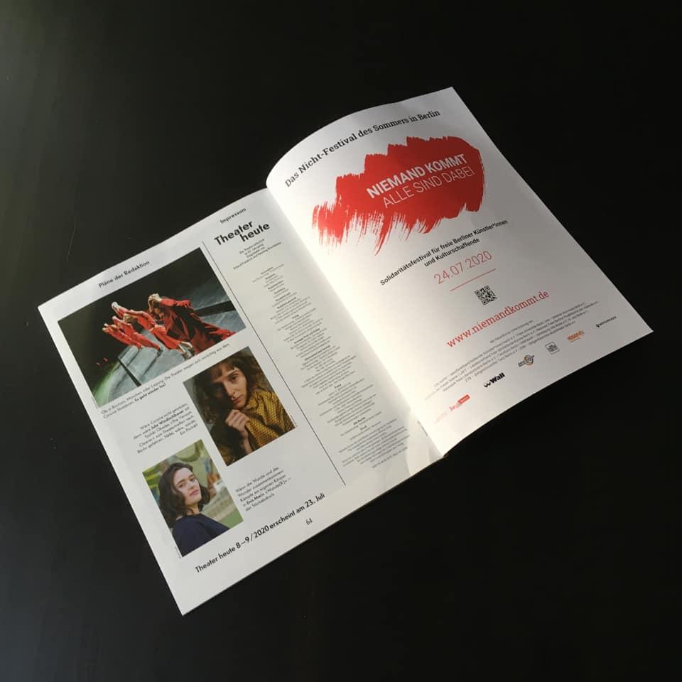 Theater heute - Advertising
